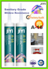 Silicone glass sealant/sealing sanitary wares & fittings