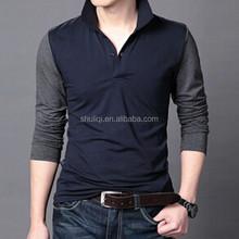 Spring Men clothing cotton 100% polo-neck long sleeve fashion polo shirt men t-shirt