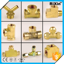 RX-1233 wholesale stainless steel insulation barrel tap(s) brass equal compression tee brass brass reducing compression tee