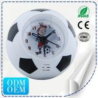 Sporty Alarm Clock For Football Quartz Table Clock
