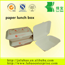 oil and water resistant paper lunch box with logo