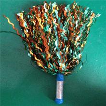 Nuevos productos rizado arte de la cinta de la animadora pompones