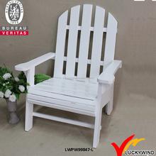 sólido blanco vintage de apoyabrazos silla de madera de los listones