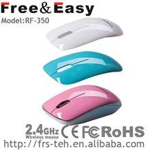 2.4G 3D flat unique wireless usb cheap mouse