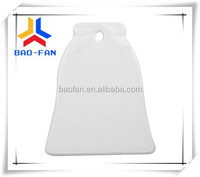 Hot selling sublimation Christmas bell shape ceramic pendant/ornament, bell shape ceramic pendant for Christmas