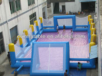 Durable inflatable football field,inflatable soap football field,inflatable human foosball