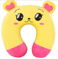 U Shape Neck Pillow Filled With Polystyrene With Very Cute Digimon Head