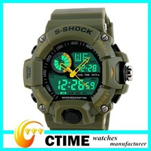 2014 New Arrival Dual Time Army Military Wristatches Men Luxury Fashion Casual Sports Watch