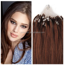 5A Natural micro ring hair extension Best Selling micro loop ring hair extensions 1.0 gram per strand 100 strands per Pack