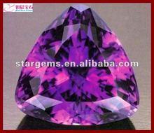 Triangle shape amethyst AAA quality zircon