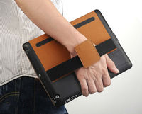 for apple ipad 4 hand strip case with synthetic leather