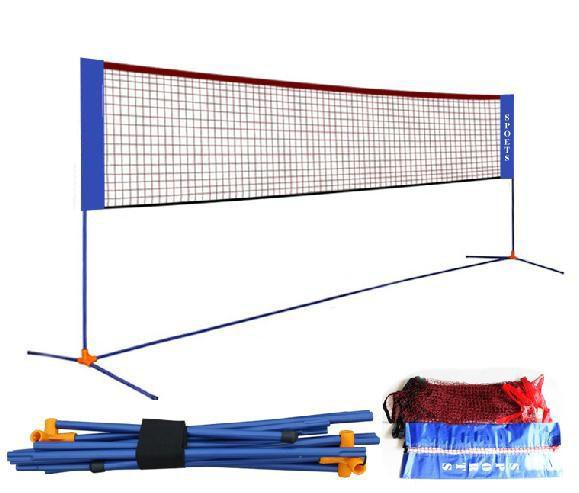 Backyard Volleyball Net Height :  volleybal tennisnet staan 3in 1 outdoor badminton palen multi fuction