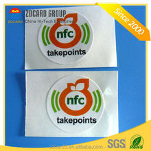 HF rewritable rfid tag/custom ultralight 13.56mhz rfid sticker