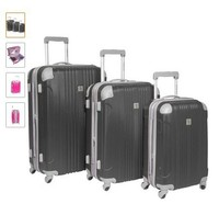 GM15125 3pcs set(20/24/28inch) pure ABS wheeled trolley luggage