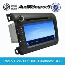 For Civic 2012 Car DVD Player with GPS Bluetooth Phonebook ipod Steering Wheel Control