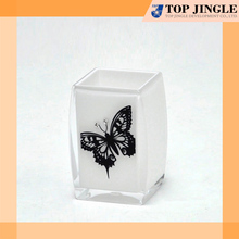 Fashion Bathroom Sparkling Plastic Butterfly Patterned Reusable Tooth Cup