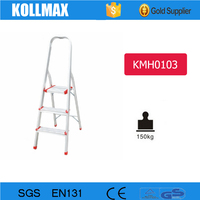 3 steps household ladder with used aluminum scaffold