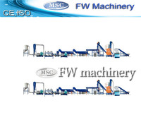 waste plastic crushing and washing machine/film recycling machine/pp pe film washing line