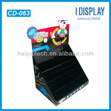 Hot sale PDQ paper counter top display for brands toy solution
