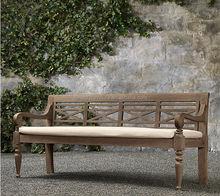 patio garden solid wood waterproof bench
