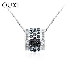 OUXI Sterling Silver Jewellerynecklace & pendants wholesale ,Silver Jewellery Crystals from Swarovski Y30116