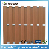 Popular composite fence cheap/ wood plastic composite fence cheap