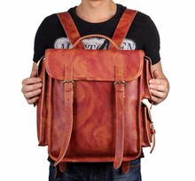 7238B Mens Leather Backpacks for Travel