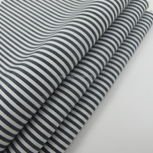 100% cotton Yarn dyed black and white strip fabric hotsale for men