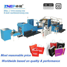 Hot sale new fashion shopping paper bag with handle making machine,equipment