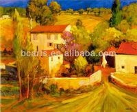 France Country Landscape Female en Provence Oil Paintings for Living Room