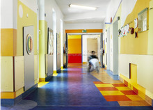 Homogeneous PVC Flooring / Commerical Vinyl Flooring for hosoital