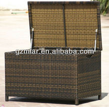 Outdoor furniture rattan storage box 702159