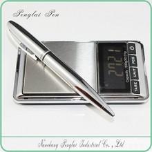 Executive silver metal promotional laser engraved metal pen