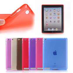 For ipad smart case, high quality for ipad case cover, slim for ipad 2/3/4 soft TPU