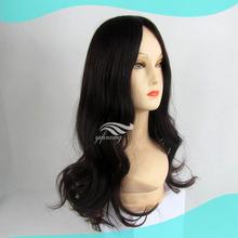 Natural Wavy Dark Brown Human Hair Skin Top Jewish Women And Wigs