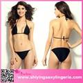 Barato por atacado black hardware push- up top de baixo crescimento calcinha moda show sexy bikini