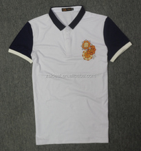 Men's cotton dip dyed polo shirt made in china