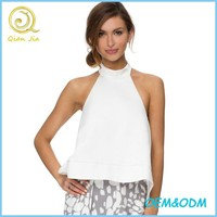 Ladies Cheap Halter top Sleeveless New Tops Wholesale