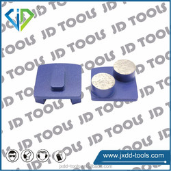 Grinding plate with two round diamond segments