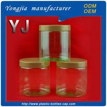 Plastic nut jar PET 290 ml transparent green bottle food packaging bottle