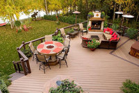 Quality!!! wood plastic composite deck board wpc bamboo decking