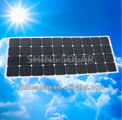 120w/18v high efficiency semi/mini flexible solar panel price for car SN-H120W