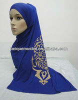 JL024 cotton muslim long scarf with arabic words