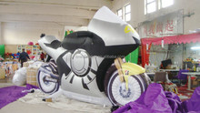 customized new design printed giant inflatable products inflatable motorcycle
