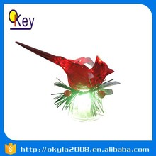 Red plastic LED plush kiwi bird light toy