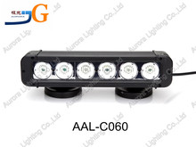 11inch 60W high quality IP67 waterproof auto parts auto 4x4 offroad led light bar AAL-C060.