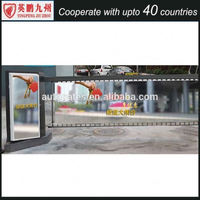 New Type of Parking Advertising Barrier Boom Gate with LED Strip Used Outdoor