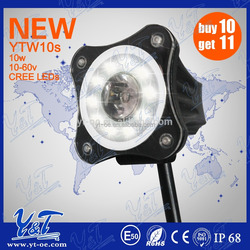 new 12pc Muti waterproof Advanced Million Color Motorcycle LED Lights with 2color controller with brake funtion