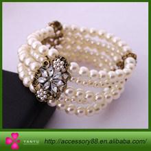 Fashion accessories pearl women's multi-layer elastic bracelet accessories