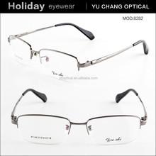 2015 hot sale fashion half rim titanium optical frame men eyewear glasses spectacle frames